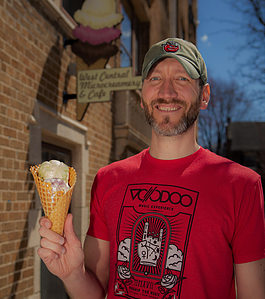 Jason Eyanson is the entrepreneur behind West Central Microcreamery and its funky flavors.