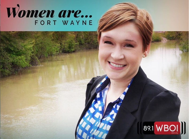 """Women Are: Building Community on Fort Wayne's Riverfront,"" featuring Megan Butler."