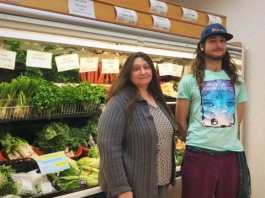 The mother-son duo of Jain Young, left, and Rowan Greene, right, are beind Plowshares Cooperative Food Hub.